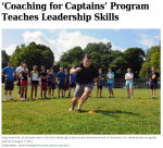 """Valley News clipping: """"'Coaching for Captains' Program Teaches Leadership Skills"""""""